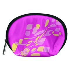 Pink abstraction Accessory Pouches (Medium)