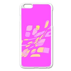 Pink abstraction Apple iPhone 6 Plus/6S Plus Enamel White Case