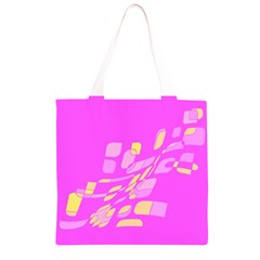 Pink abstraction Grocery Light Tote Bag