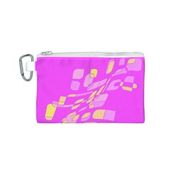Pink abstraction Canvas Cosmetic Bag (S)