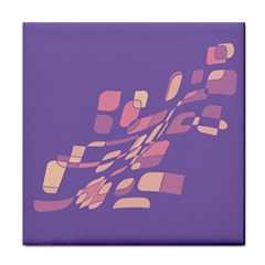 Purple abstraction Tile Coasters
