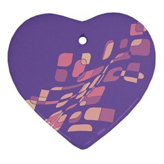 Purple abstraction Ornament (Heart)
