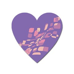 Purple abstraction Heart Magnet
