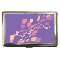 Purple abstraction Cigarette Money Cases