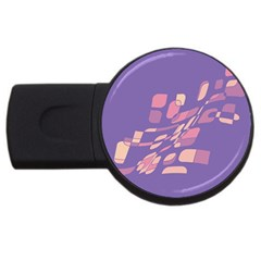 Purple abstraction USB Flash Drive Round (1 GB)