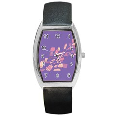 Purple abstraction Barrel Style Metal Watch