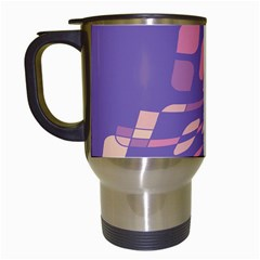 Purple abstraction Travel Mugs (White)