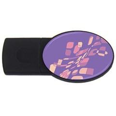 Purple abstraction USB Flash Drive Oval (4 GB)