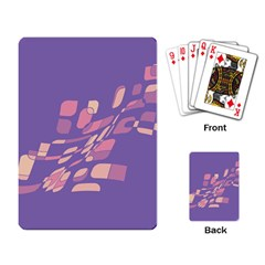 Purple abstraction Playing Card
