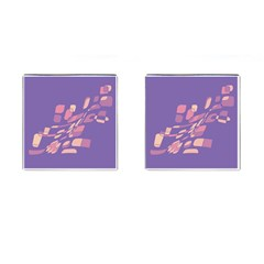 Purple abstraction Cufflinks (Square)