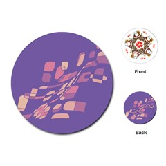 Purple abstraction Playing Cards (Round)