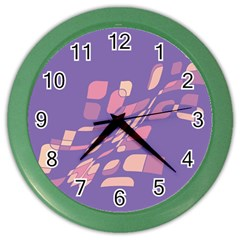 Purple abstraction Color Wall Clocks
