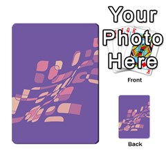 Purple abstraction Multi-purpose Cards (Rectangle)