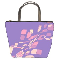 Purple Abstraction Bucket Bags