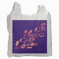 Purple abstraction Recycle Bag (Two Side)