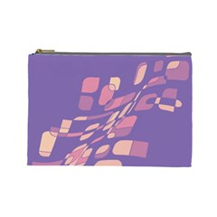 Purple abstraction Cosmetic Bag (Large)