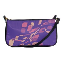 Purple abstraction Shoulder Clutch Bags