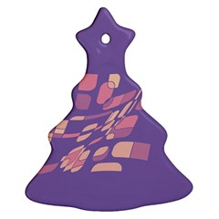 Purple abstraction Ornament (Christmas Tree)