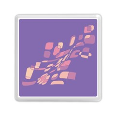 Purple abstraction Memory Card Reader (Square)
