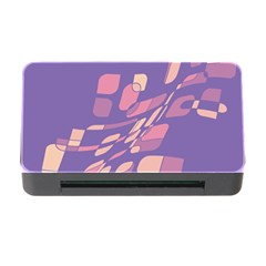Purple abstraction Memory Card Reader with CF