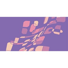 Purple abstraction YOU ARE INVITED 3D Greeting Card (8x4)