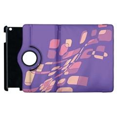 Purple abstraction Apple iPad 3/4 Flip 360 Case