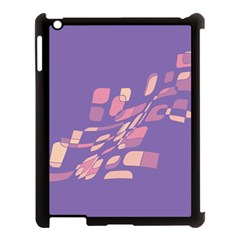 Purple abstraction Apple iPad 3/4 Case (Black)