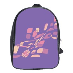 Purple abstraction School Bags (XL)