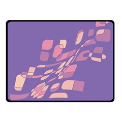 Purple abstraction Double Sided Fleece Blanket (Small)