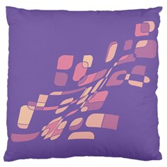 Purple abstraction Large Flano Cushion Case (One Side)