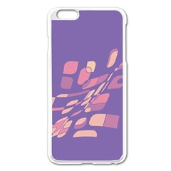 Purple abstraction Apple iPhone 6 Plus/6S Plus Enamel White Case