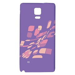 Purple abstraction Galaxy Note 4 Back Case