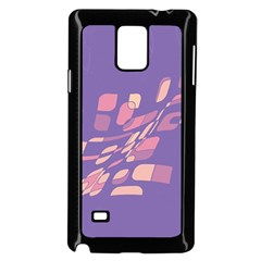 Purple abstraction Samsung Galaxy Note 4 Case (Black)