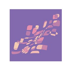 Purple abstraction Small Satin Scarf (Square)