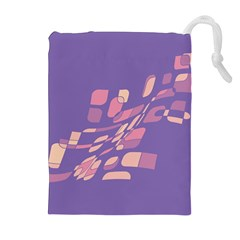 Purple abstraction Drawstring Pouches (Extra Large)