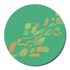Green abastraction Round Mousepads