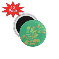 Green abastraction 1.75  Magnets (10 pack)