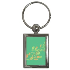 Green abastraction Key Chains (Rectangle)