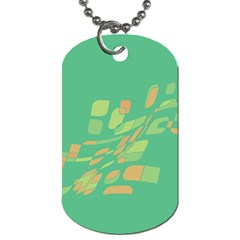 Green abastraction Dog Tag (Two Sides)