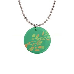 Green abastraction Button Necklaces