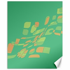 Green abastraction Canvas 16  x 20