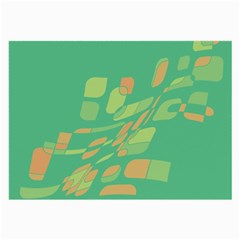 Green abastraction Large Glasses Cloth