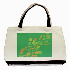 Green abastraction Basic Tote Bag (Two Sides)