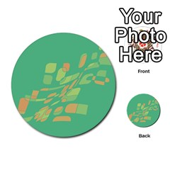 Green abastraction Multi-purpose Cards (Round)