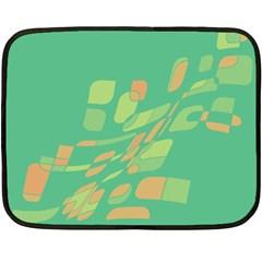 Green abastraction Double Sided Fleece Blanket (Mini)