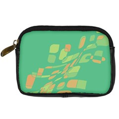 Green abastraction Digital Camera Cases