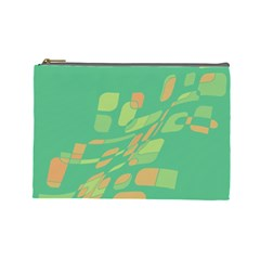 Green abastraction Cosmetic Bag (Large)