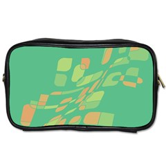 Green Abastraction Toiletries Bags 2 Side