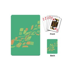 Green abastraction Playing Cards (Mini)