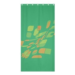 Green abastraction Shower Curtain 36  x 72  (Stall)